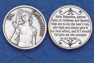 St. Sebastian Italian Pocket Token Coin - Unique Catholic Gifts