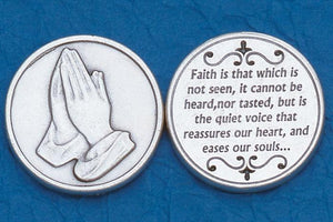 Faith is That Which is Not Seen Token Coin - Unique Catholic Gifts