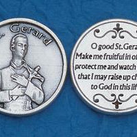 St. Gerard Italian Pocket Token Coin - Unique Catholic Gifts