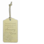 """Amazing Nurse"" Gift Tag"