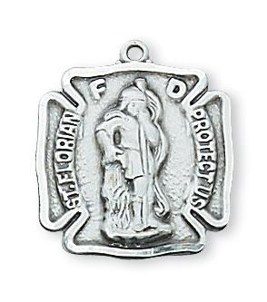Sterling Silver St. Florian Medal  (11/16