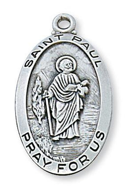 Sterling Silver St Paul Medal (1 1/8