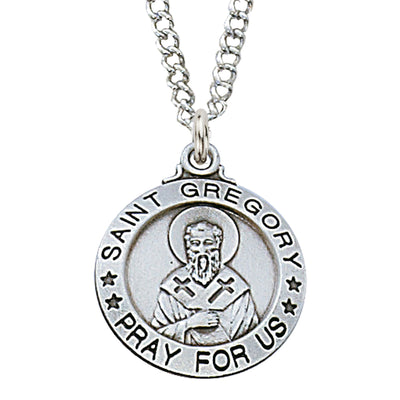 St Gregory Medal Sterling Silver 3/4