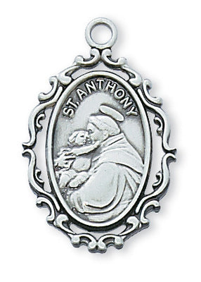 St Anthony Sterling Silver Medal 1