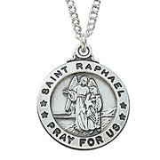 "(L600RH) Sterling St. Raphael 20 "" Chain & Box - Unique Catholic Gifts"