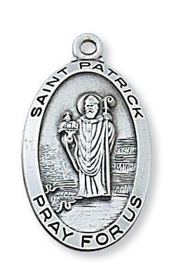 Sterling Silver St Patrick Medal (1 1/8