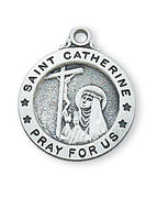 "St. Catherine of Sienna Medal Sterling Silver 5/8"" - Unique Catholic Gifts"