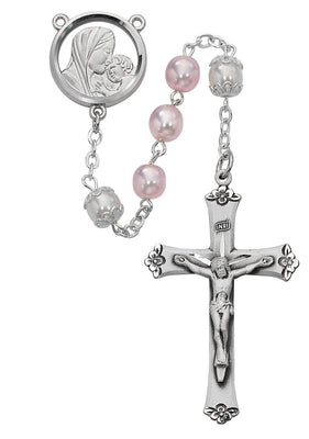Pink Pearl Rosary (7mm)(592R/F)