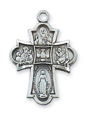 Sterling Silver 4-way Medal (1
