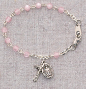 "(B25d) 5 1/2"" Pink Baby Bracelet - Unique Catholic Gifts"