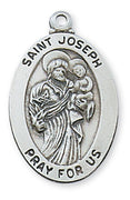 "(L461JS) Sterling Silver St. Joseph Medal 20"" - Unique Catholic Gifts"