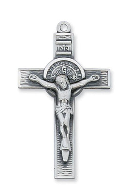 Sterling Silver St. Benedict Crucifix (1 3/4