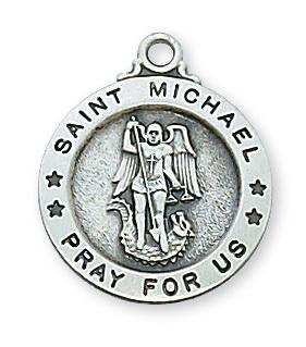 Sterling Silver St. Michael Medal (5/8