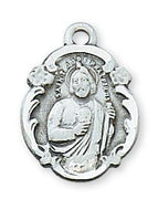"St. Jude Medal Sterling Silver 3/4"" - Unique Catholic Gifts"