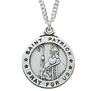 "(L600PT) Sterling St. Patrick 20 "" Chain & Box - Unique Catholic Gifts"