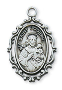 (L621JS) Sterling Silver St. Joseph Medal - Unique Catholic Gifts