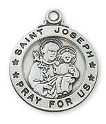 "(L600JS) Sterling Silver St. Joseph 20"" Chain & Box - Unique Catholic Gifts"