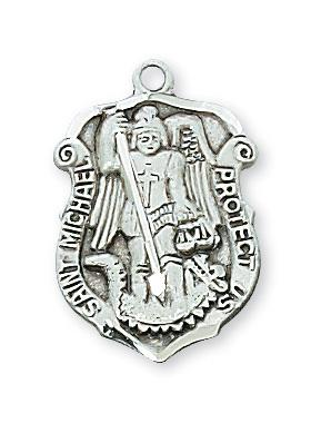 Sterling Silver St Michael Medal for Law Enforcement (3/4