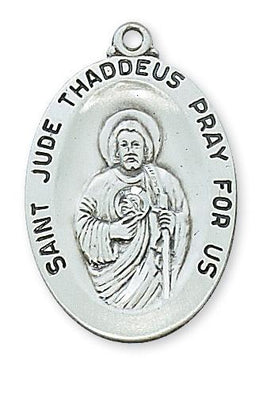 Sterling Silver St Jude Medal (1 1/8