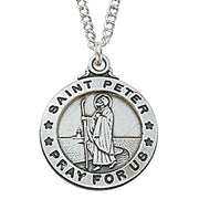 "(L600PTR) Sterling St. Peter 20 "" Chain & Box - Unique Catholic Gifts"