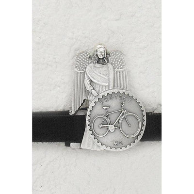 Handle Bar Clip with Bicycle and Guardian Angel - Unique Catholic Gifts