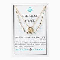 Gold Blessing and Grace Necklace - Unique Catholic Gifts