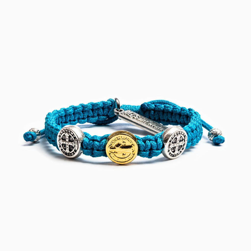 Blessing for Kids Benedictine Blessing Bracelet (Blue) - Unique Catholic Gifts