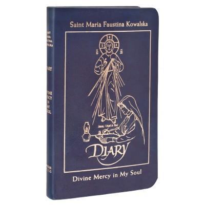 Diary of Saint Maria Faustina Kowalska, Deluxe (Blue Leather) - Unique Catholic Gifts