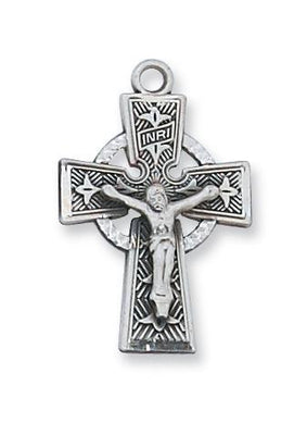 Sterling Silver Celtic Crucifix  (5/8