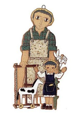 St. Joseph Ceramic Plaque (9 1/4