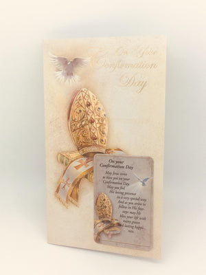 Confirmation Greeting Card with Holy Card - Unique Catholic Gifts