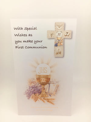 Special Wishes as You Make your First Communion Greeting Card