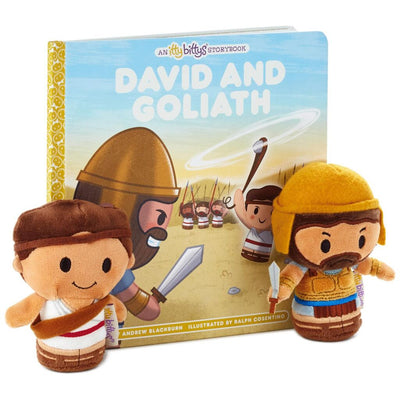 itty bittys® David and Goliath Stuffed Animal and Storybook Set - Unique Catholic Gifts