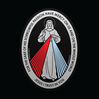 Divine Mercy Transparent Car Decal