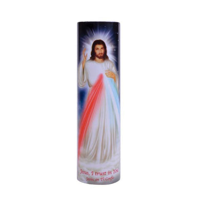 Divine Mercy LED Candle Timer - Unique Catholic Gifts
