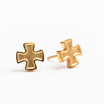 Faith Stud Earrings (Gold)