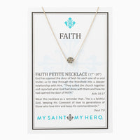 Faith Petite Necklace Silver - Unique Catholic Gifts