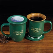 """You are an Amazing Man"" Coaster and Mug Set - Unique Catholic Gifts"
