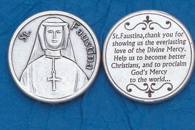 St. Faustina Italian Pocket Token Coin - Unique Catholic Gifts