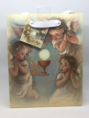 Holy First Communion Angels Gift Bag (medium) 7 3/4