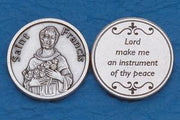 St. Francis Italian Pocket Token Coin - Unique Catholic Gifts
