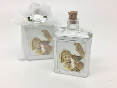 Girl Communion Holy Water Bottles with Organza Bag - Unique Catholic Gifts