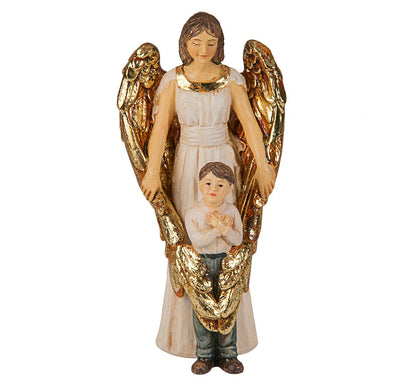 Guardian Angel with Boy Statue Hand Painted (4