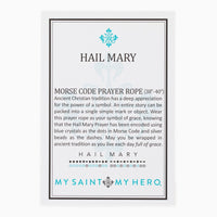 "Hail Mary Morse Code Prayer Rope (38""-40"") by My Saint My Hero - Unique Catholic Gifts"