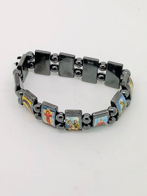 Hematite Saints Bracelet - Unique Catholic Gifts