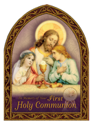 Holy First Communion Greeting Card (embossed) - Unique Catholic Gifts