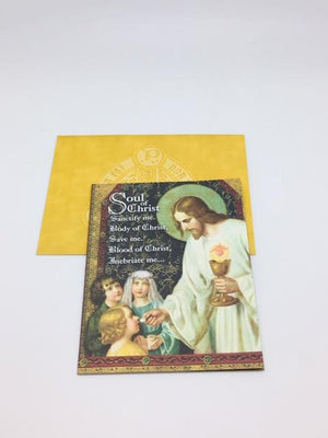 Holy First Communion Greeting Card - Unique Catholic Gifts