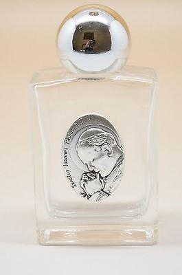 Pope John Paul II Glass Holy Water Bottle (3.35 x 1.6