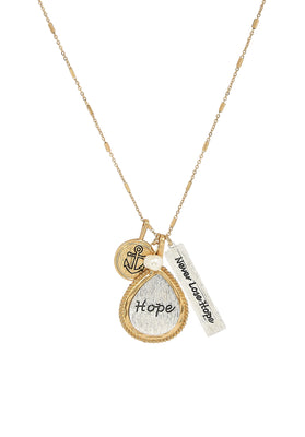 Gold Two Tone Hope Necklace - Unique Catholic Gifts