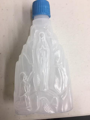Our Lady of Lourdes Holy Water Bottle (plastic) - Unique Catholic Gifts
